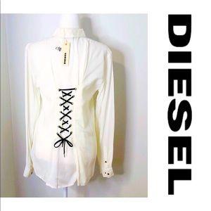 NWT Diesel Loli Ivory shirt